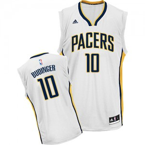 Hombre Camiseta Chase Budinger #10 Indiana Pacers Adidas Home Blanco Swingman