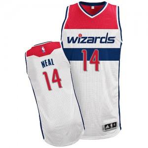 Camiseta NBA Home Washington Wizards Blanco Authentic - Hombre - #14 Gary Neal