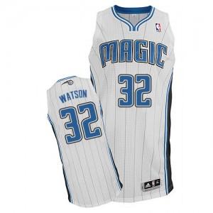 Hombre Camiseta C.J. Watson #32 Orlando Magic Adidas Home Blanco Authentic