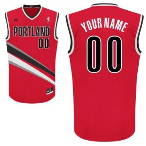 Hombre Camiseta Swingman Personalizadas Portland Trail Blazers Adidas Alternate Rojo
