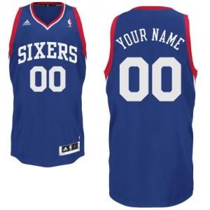 Camiseta NBA Philadelphia 76ers Swingman Personalizadas Alternate Adidas Azul real - Adolescentes