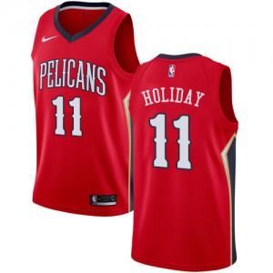 Camiseta Hombre Swingman Statement Edition Jrue Holiday #11 New Orleans Pelicans rojo