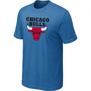 T-Shirt Hombre NBA Chicago Bulls Big & Tall Azul claro