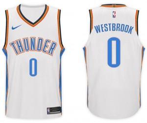 Camiseta Russell Westbrook #0 Oklahoma City Thunder 2017-18 New Season Blanco