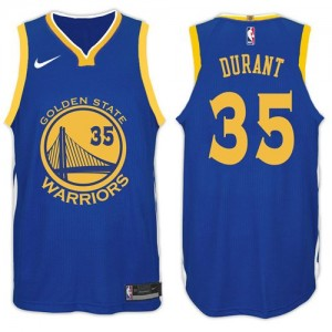 Camiseta 2017-18 New Season Golden State Warriors Azul - #35 Kevin Durant