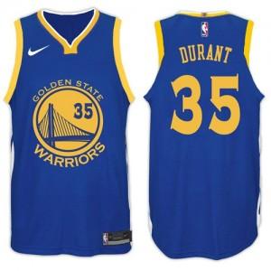 Camiseta 2017-18 New Season Golden State Warriors Azul - #35 Kevin Durant