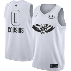 Camiseta Jordan 2018 All-Star Game New Orleans Pelicans Blanco Swingman - Niño - #0 DeMarcus Cousins