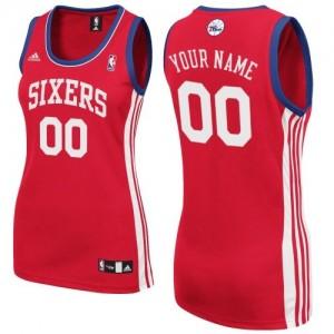 Camiseta NBA Philadelphia 76ers Swingman Personalizadas Road Adidas Rojo - Mujer