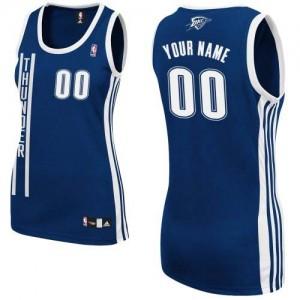 Oklahoma City Thunder Adidas Alternate Azul marino Camiseta de la NBA - Authentic Personalizadas - Mujer