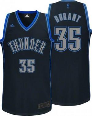 Camiseta NBA Oklahoma City Thunder Kevin Durant #35 Graystone Fashion Adidas Negro Swingman - Hombre