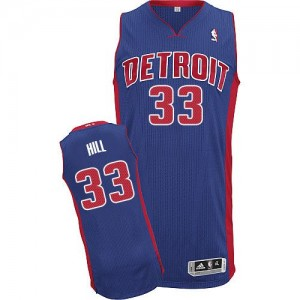 Detroit Pistons Adidas Road Azul real Authentic Camiseta de la NBA - Grant Hill #33 - Hombre