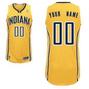 Camiseta NBA Alternate Indiana Pacers Oro - Mujer - Personalizadas Authentic