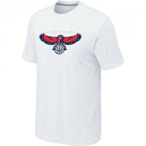 T-Shirts NBA Big & Tall Atlanta Hawks Blanco - Hombre