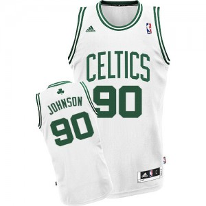 Camiseta Swingman Amir Johnson #90 Boston Celtics Home Blanco - Hombre