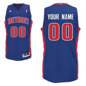 Hombre Camiseta Swingman Personalizadas Detroit Pistons Adidas Road Azul real