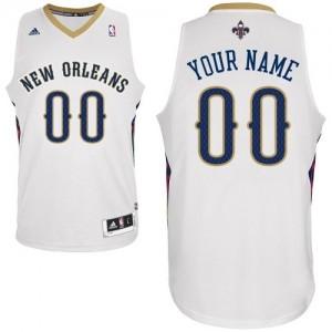 Camiseta NBA Swingman Personalizadas Home Blanco - New Orleans Pelicans - Mujer