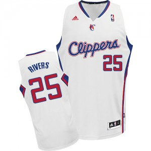 Camisetas Baloncesto Hombre NBA Los Angeles Clippers Home Swingman Austin Rivers #25 Blanco
