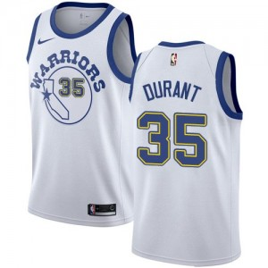 Golden State Warriors Hardwood Classics Throwback Blanco Swingman Camiseta de la NBA - Kevin Durant #35