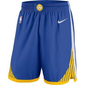 Golden State Warriors Azul Icon Swingman Pantalones de la NBA - Hombre