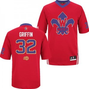 Camiseta Authentic Blake Griffin #32 Los Angeles Clippers 2014 All Star Rojo - Hombre