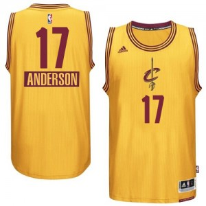 Camiseta NBA 2014-15 Christmas Day Cleveland Cavaliers Oro Authentic - Hombre - #17 Anderson Varejao