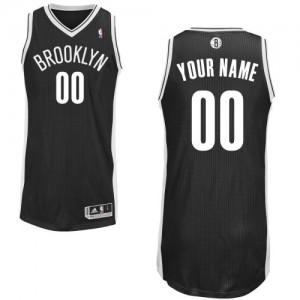 Brooklyn Nets Adidas Road Negro Camiseta de la NBA - Authentic Personalizadas - Adolescentes