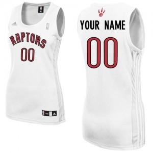 Toronto Raptors Adidas Home Blanco Camiseta de la NBA - Swingman Personalizadas - Mujer
