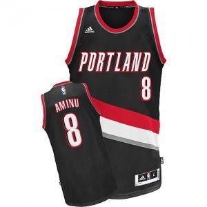 Camisetas Baloncesto Hombre NBA Portland Trail Blazers Road Swingman Al-Farouq Aminu #8 Negro