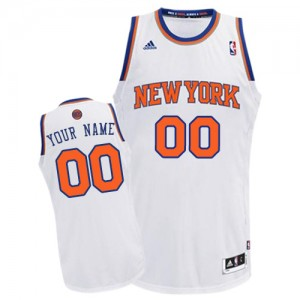 Adolescentes Camiseta Swingman Personalizadas New York Knicks Adidas Home Blanco