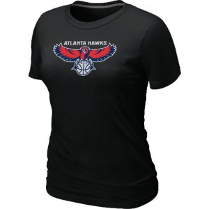 T-Shirts NBA Big & Tall Atlanta Hawks Negro - Mujer