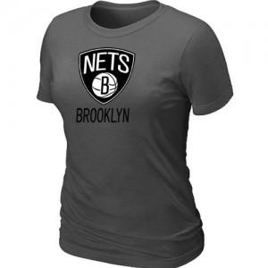 T-Shirts NBA Big & Tall Brooklyn Nets Gris oscuro - Mujer