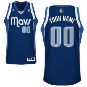 Camiseta NBA Dallas Mavericks Swingman Personalizadas Alternate Adidas Azul marino - Hombre