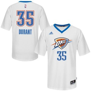 Camiseta NBA Oklahoma City Thunder Kevin Durant #35 Pride Adidas Blanco Authentic - Hombre