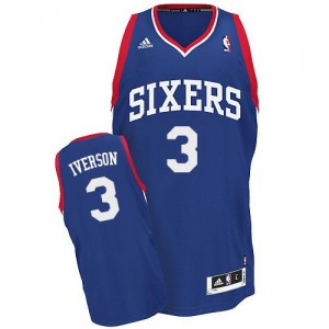 Camiseta NBA Alternate Philadelphia 76ers Azul real Swingman - Hombre - #3 Allen Iverson