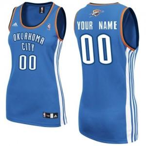 Camiseta NBA Road Oklahoma City Thunder Azul real - Mujer - Personalizadas Swingman