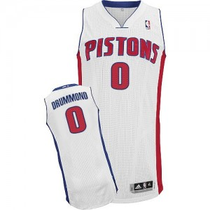 Hombre Camiseta Andre Drummond #0 Detroit Pistons Adidas Home Blanco Authentic