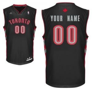 Toronto Raptors Adidas Alternate Negro Camiseta de la NBA - Swingman Personalizadas - Adolescentes