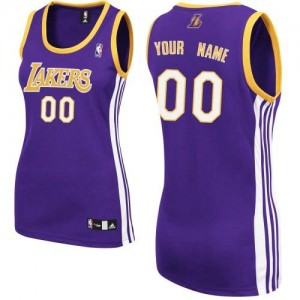Camisetas Baloncesto Mujer NBA Los Angeles Lakers Road Authentic Personalizadas Púrpura