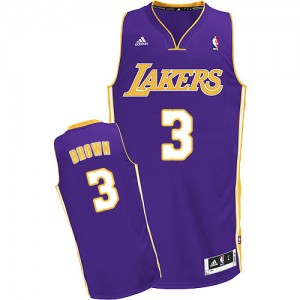 Los Angeles Lakers Adidas Road Púrpura Swingman Camiseta de la NBA - Anthony Brown #3 - Hombre