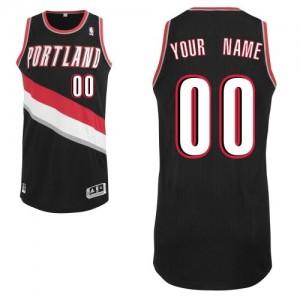 Hombre Camiseta Authentic Personalizadas Portland Trail Blazers Adidas Road Negro