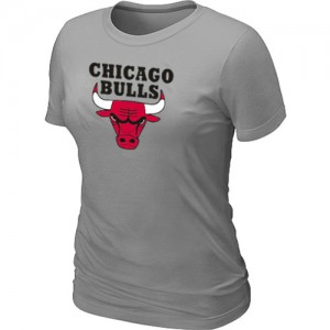 T-Shirt Primary Logo Mujer NBA Chicago Bulls Big & Tall Gris claro