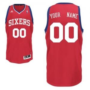 Camiseta NBA Philadelphia 76ers Swingman Personalizadas Road Adidas Rojo - Adolescentes