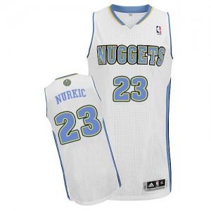 Camiseta NBA Denver Nuggets Jusuf Nurkic #23 Home Adidas Blanco Authentic - Hombre