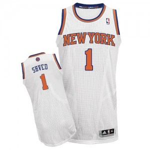 Camiseta NBA Authentic Alexey Shved #1 Home Blanco - New York Knicks - Hombre