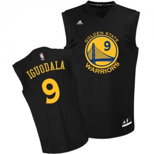 Camisetas Baloncesto Hombre NBA Golden State Warriors Fashion Authentic Andre Iguodala #9 Negro