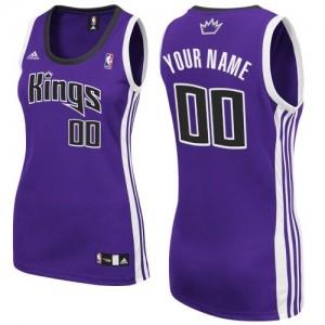 Mujer Camiseta Swingman Personalizadas Sacramento Kings Adidas Road Púrpura