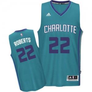 Camiseta Swingman Brian Roberts #22 Charlotte Hornets Road Azul claro - Hombre