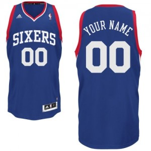 Camiseta NBA Philadelphia 76ers Swingman Personalizadas Alternate Adidas Azul real - Hombre