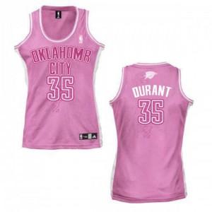 Oklahoma City Thunder Adidas Fashion Rosado Swingman Camiseta de la NBA - Kevin Durant #35 - Mujer