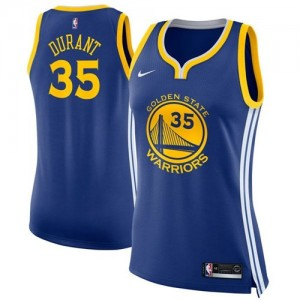 Camiseta Golden State Warriors Azul Swingman Icon Edition - Mujer - #35 Kevin Durant